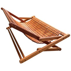 Zanine José Caldas Style off Articulated Bench in Teak Wood and Rope