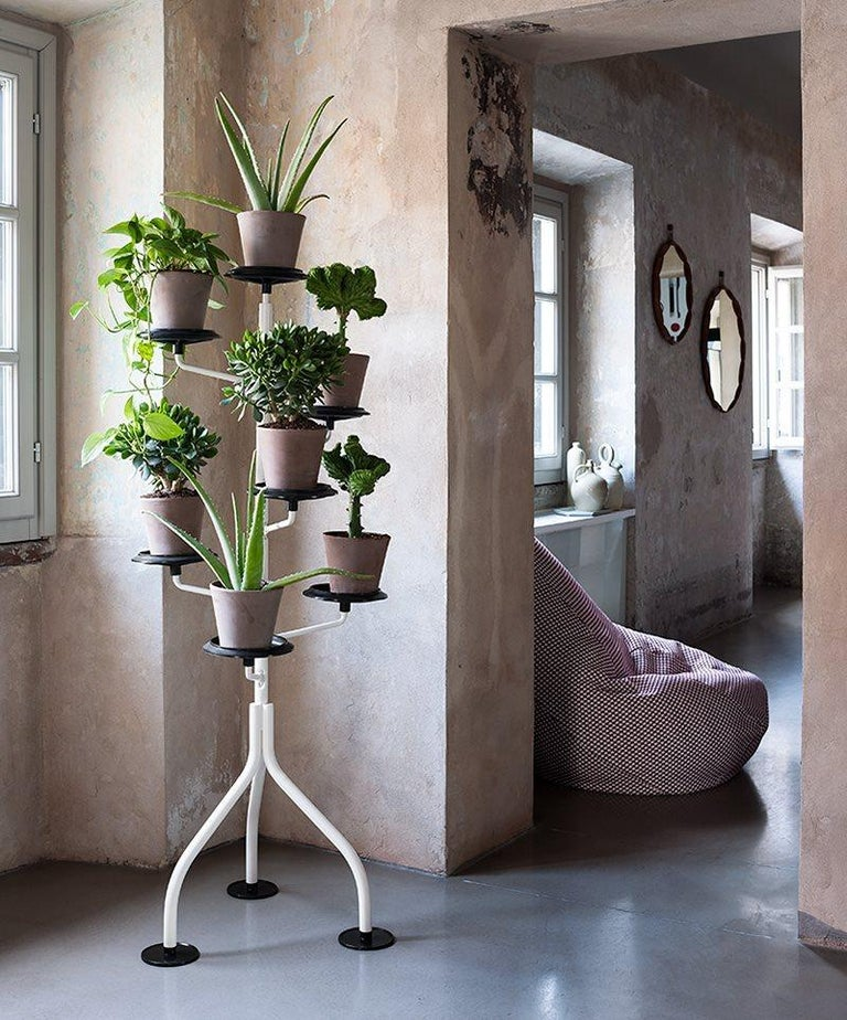 Steel Zanotta Albero White Demountable Flowerpot Stand For Sale