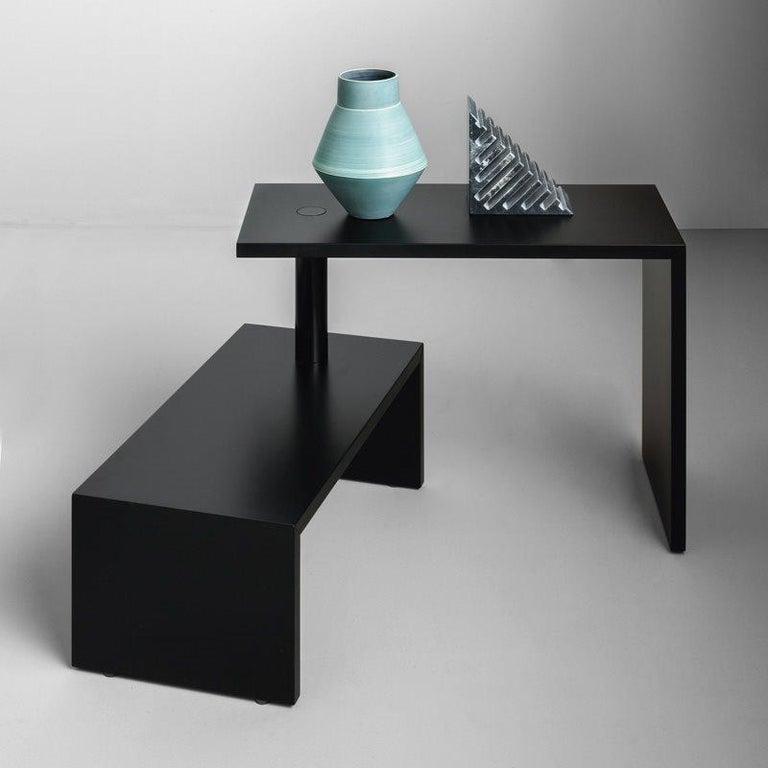 Modern Zanotta Black Basello Small Table by Achille Castiglioni For Sale