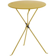 Zanotta Cumano Yellow Folding table designed by Achille Castiglioni