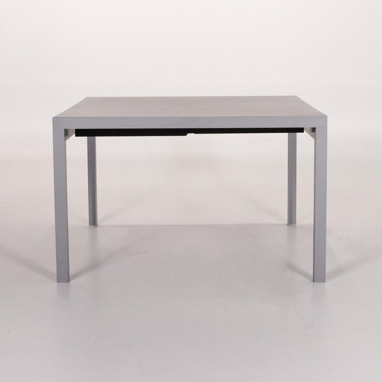 Zanotta Estenso Metal Dining Table Wood Brown Folding Table Function 4