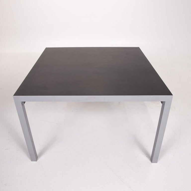 Zanotta Estenso Metal Dining Table Wood Brown Folding Table Function 5