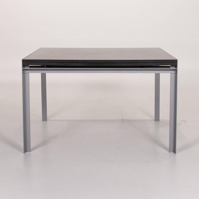 Zanotta Estenso Metal Dining Table Wood Brown Folding Table Function 6