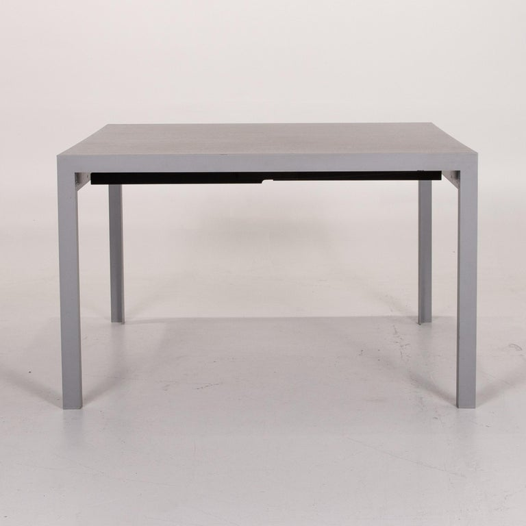 Zanotta Estenso Metal Dining Table Wood Brown Folding Table Function 7
