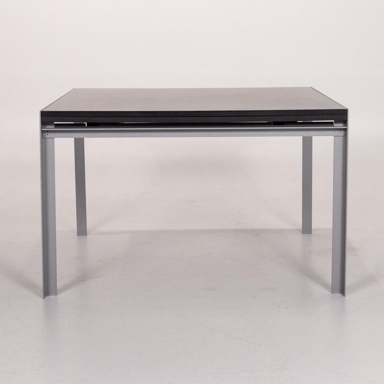 Zanotta Estenso Metal Dining Table Wood Brown Folding Table Function 8