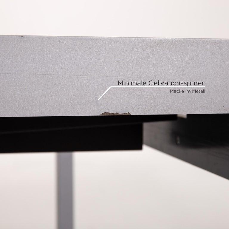 Italian Zanotta Estenso Metal Dining Table Wood Brown Folding Table Function