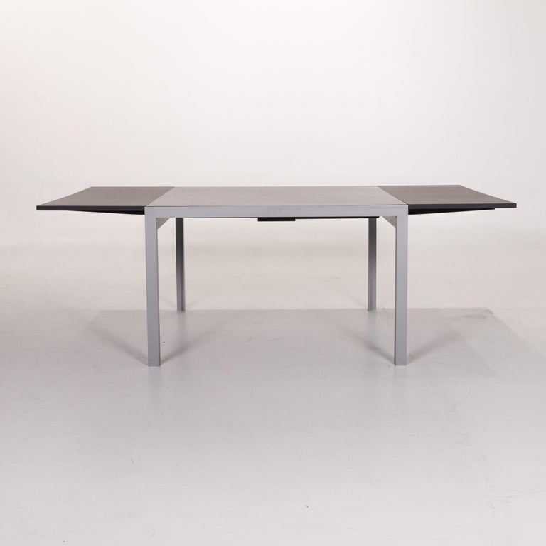 Zanotta Estenso Metal Dining Table Wood Brown Folding Table Function 3