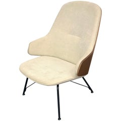 Zanotta Judy Armchair with Walnut Back