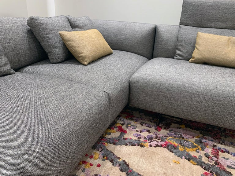Zanotta Kim Sectional Sofa Designed by Ludovica & Roberto Palomba In Excellent Condition For Sale In New York, NY