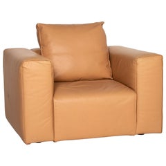 Zanotta Leather Armchair Brown Camel