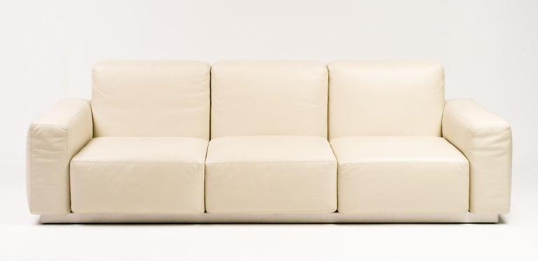 "Modern Zanotta Leather ""Upndown"" Sofa For Sale"