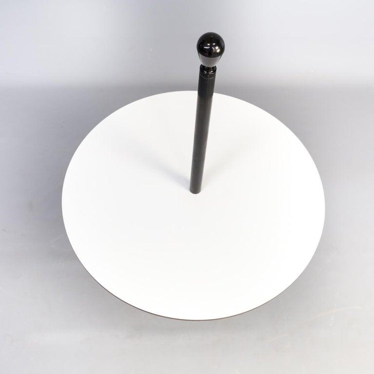 Italian Zanotta Servomuto Small Table Black and White For Sale