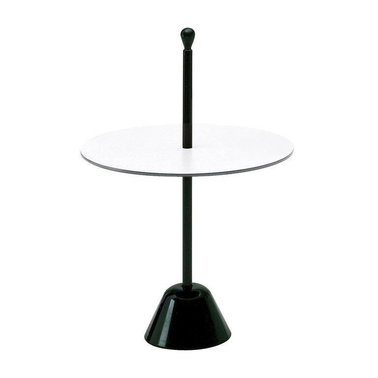 Zanotta Servomuto Small Table Black and White For Sale