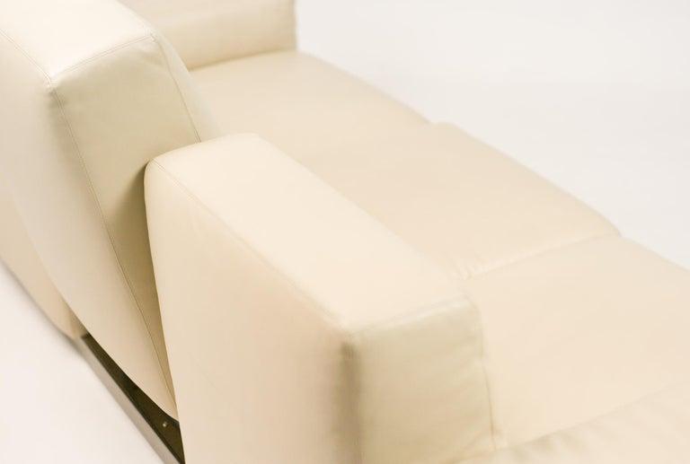 "Leather Zanotta ""Upndown"" Living Room Set For Sale"