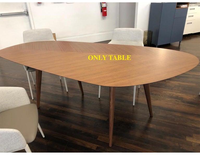Zanotta Walnut Tweed Table by Garcia Cumini For Sale 2