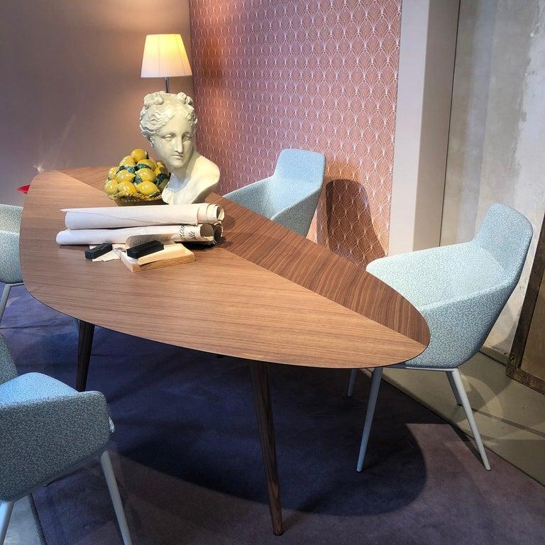 Zanotta Walnut Tweed Table by Garcia Cumini For Sale 3