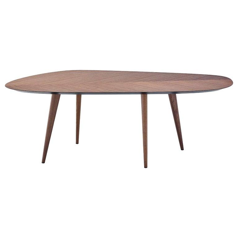 Zanotta Walnut Tweed Table by Garcia Cumini For Sale