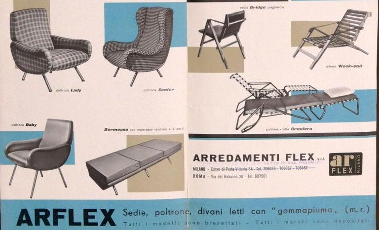 Mid-Century Modern Zanuso Mohair 'Baby' Lounge Chairs, Early Wood Frames, Brass Legs, Arflex, 1951 For Sale