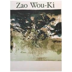 Zao Wou-Ki Affiche De Galerie, Original Vintage Exhibition Poster, 1978