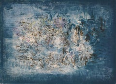 Little Garden  Le petite jardin- French Chinese Abstract Art, Inscribed
