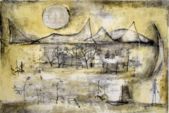 Mountains and Sun  Montagnes et soleil - Chinese Art Abstract French