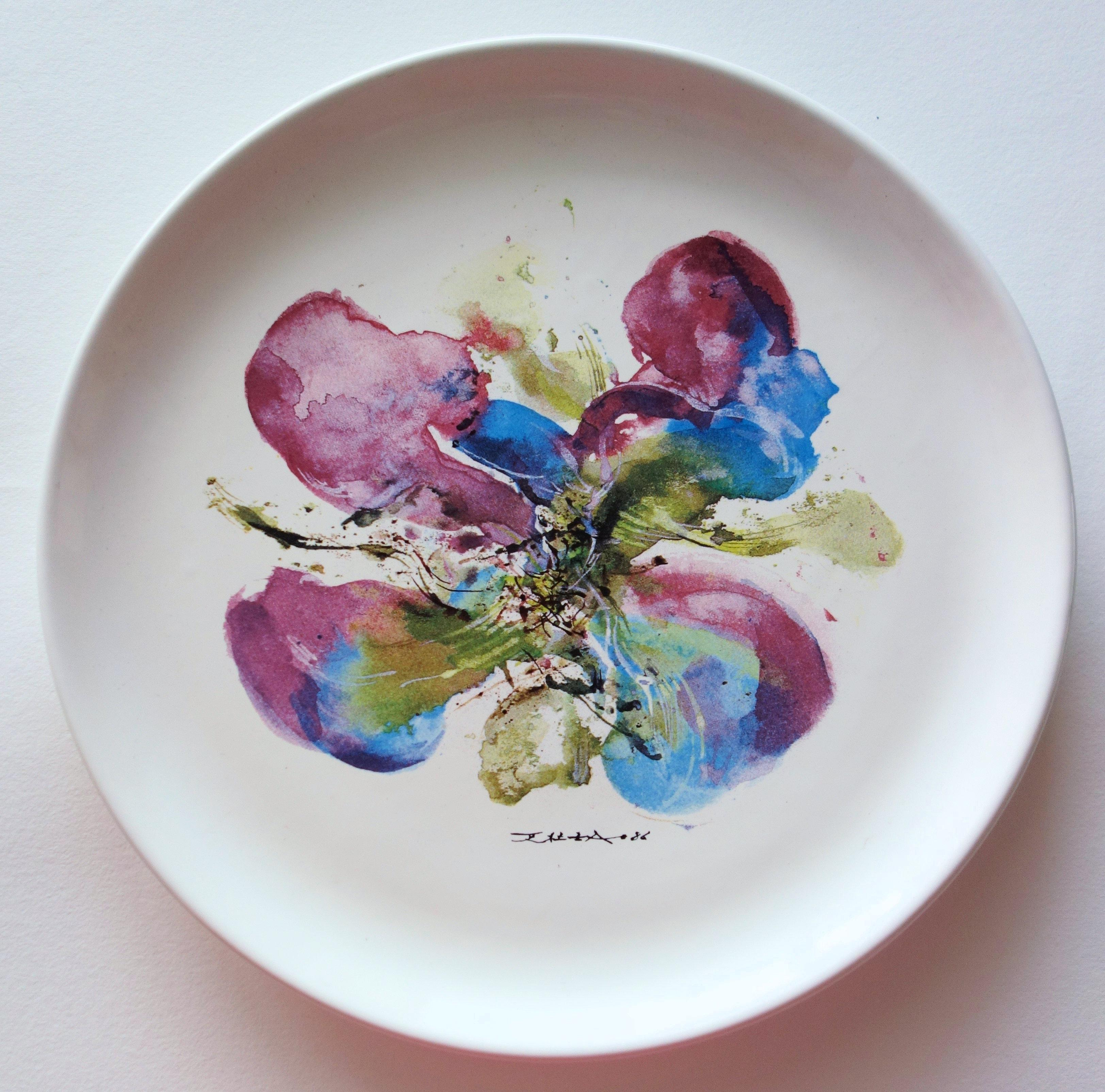 Orchid - Screenprint of Porcelain Plate (BSN Edition, 1986)