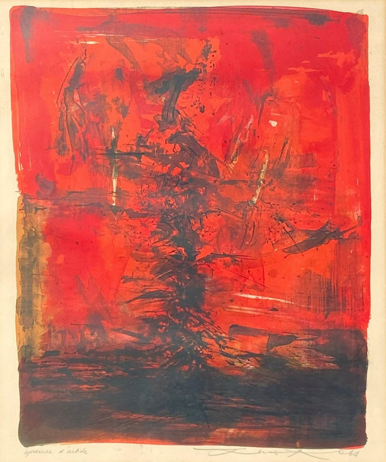 <i>Untitled</i>, 1963, by Zao Wou-Ki, offered by Gallery of the Masters
