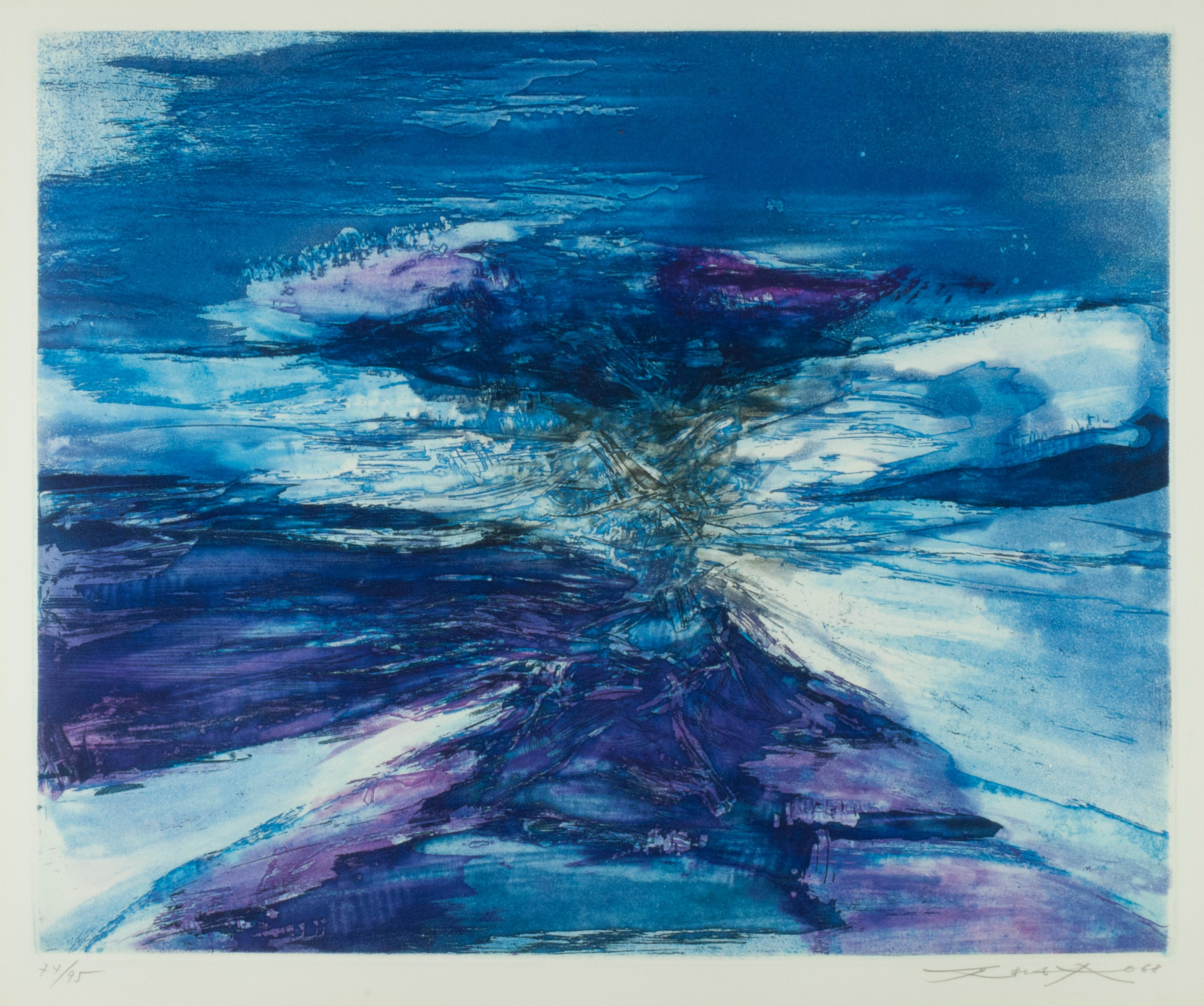 Blue Rythms (Agerup 188)  after the 1966 painting, Peinture.