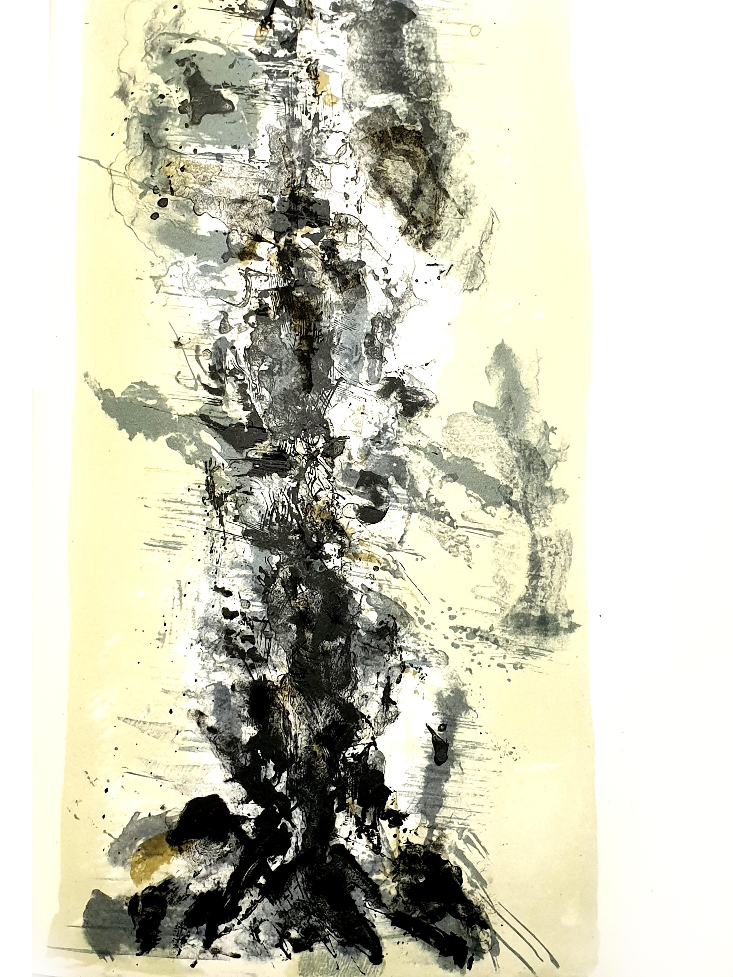 Zao Wou-ki - Original Lithograph - Abstract Composition
