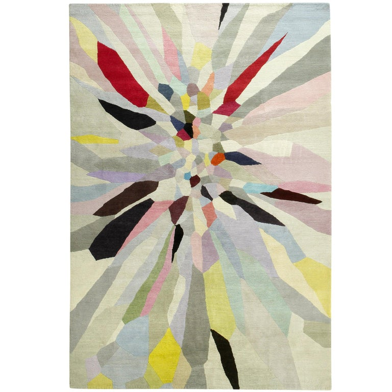 Zap Hand-Knotted 10x8 Rug in Wool by Fiona Curran For Sale
