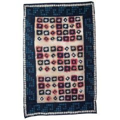 Zapotec Handwoven Natural Dyed Hanging Feather Rug Made in Oaxaca Mexico