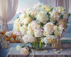 Glamour Still Life White Peonies