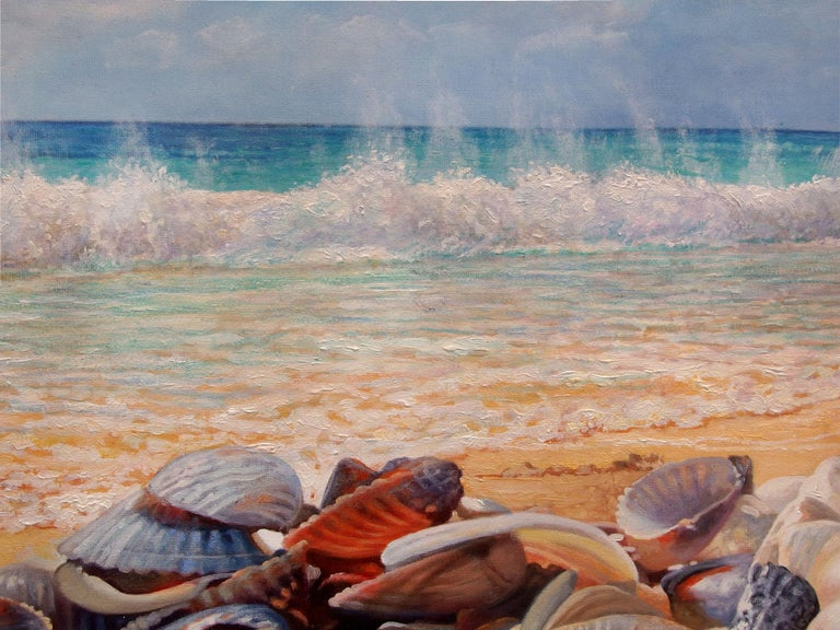 Sea Shells On The Beach - Painting by Zbigniew Kopania