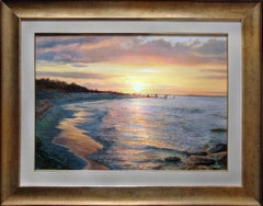 Warm Sunset Seascape Painting