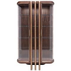 Zebra and Brass 2-Door Display Cabinet