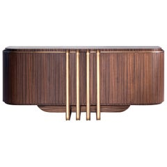 Zebra and Brass Sideboard
