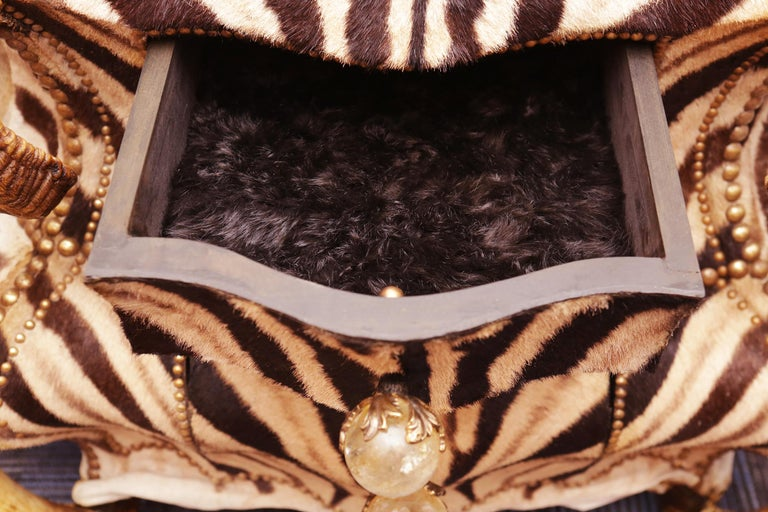 Bronze Zebra and Elk Chest of Drawers For Sale