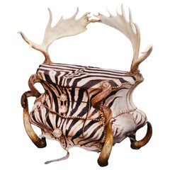 Zebra and Elk Chest of Drawers