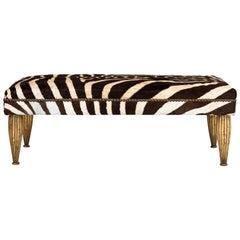 Zebra Bench in Gold Leaf