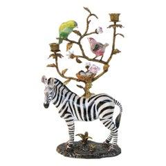 Zebra Candleholder Sculpture