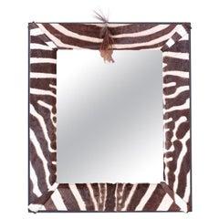 Zebra Hide Wall Mirror