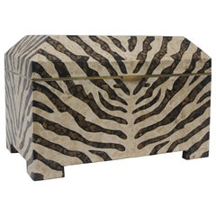 Zebra Motif Storage Box