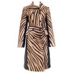 Zebra Print Calf Hair Coat