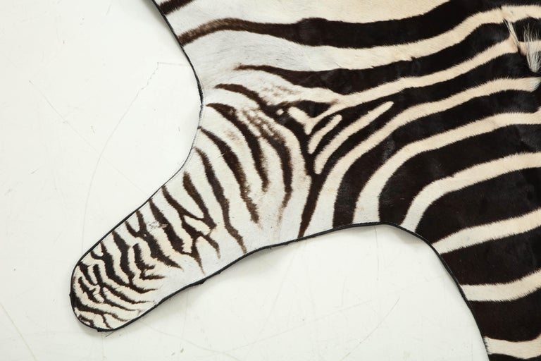 Campaign Zebra Rug For Sale