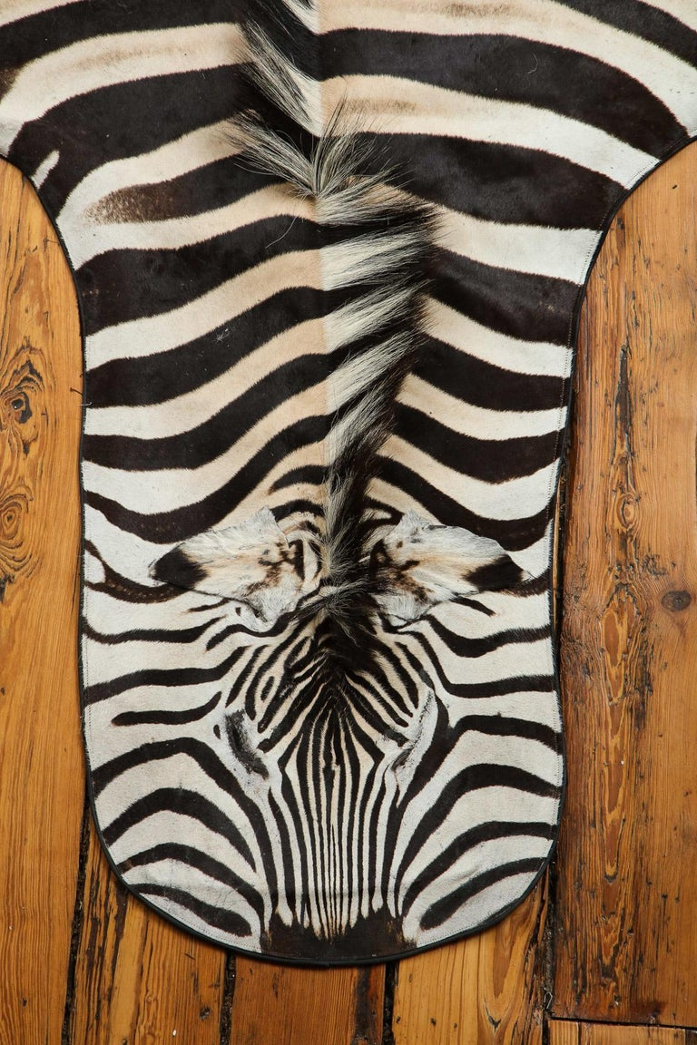 Campaign Zebra Rug For Sale