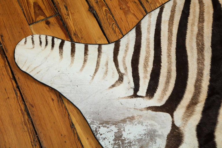 Zebra Rug In New Condition For Sale In New York, NY