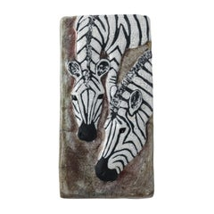 Zebra Tile by Newcomb College Pottery
