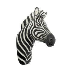 Zebra Wall Head Sculpture