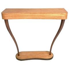 Midcentury Wood and Ebonized Wood Console Table, Italy