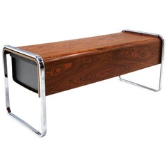 Zebra Wood Desk by Peter Protzman for Herman Miller, Excellent Example